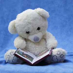 baby- preemie - teddy bear reading