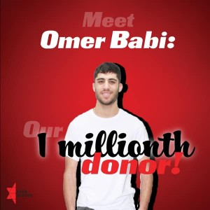 pr bmr Omer Babi - 1 millionth potential donor in registry